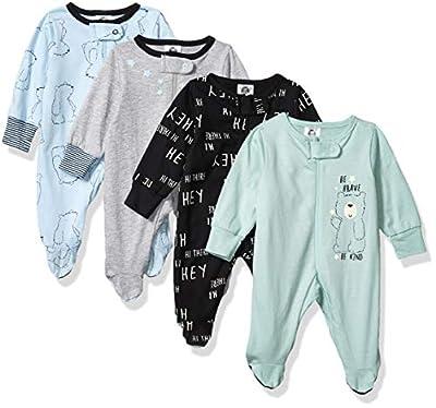 Gerber Baby Boys' 4 Pack Sleep N' Play Footie, Bear, Newborn
