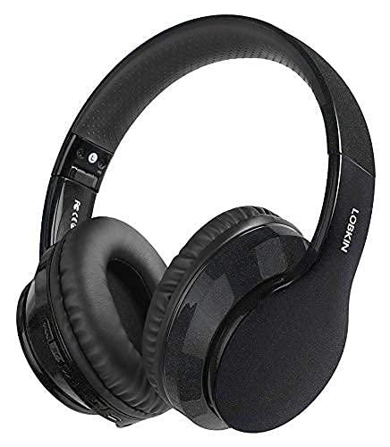 Cuffie Bluetooth Grandi, LOBKIN Cuffie Bluetooth 5.0 Wireless,cuffie over ear bluetooth,cuffie bluetooth bambina bambino con microfono per tv,musica,pc,gaming