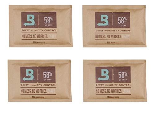 Lifestyle-Ambiente 4 Stück Boveda groß 58% 67 Gramm Befeuchter Pouch inkl Tastingbogen