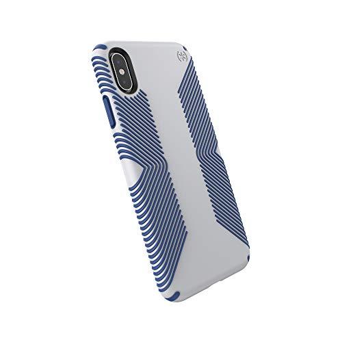 Speck Presidio Grip Funda Protectora para iPhone XR - Gris Claro/Azul