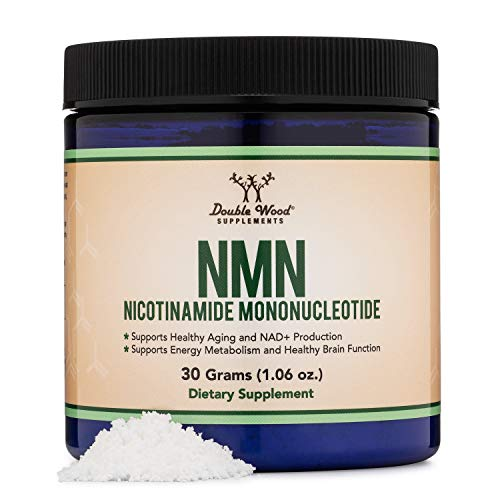 NMN Powder, 30 Grams of Stabilized Form (30 Days of 1 Gram Servings) (Nicotinamide Mononucleotide), Third Party Tested, to Boost NAD+ Levels like Riboside for Anti Aging by Double Wood Supplements