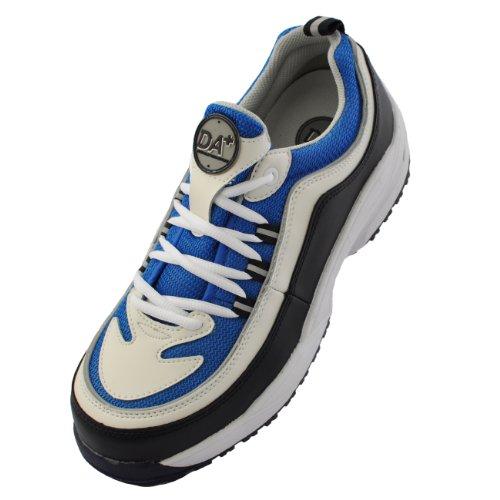 [ドンケル] Dynasty 安全靴 スニーカー 軽量 耐油 耐滑 かかと衝撃吸収 JSAA A種 DA+28 メンズ ホワイト・ブルー 25.5