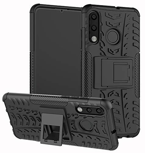Yiakeng Hülle Huawei P30 Lite, Doppelschicht Stoßfest Schlank Ganzkörperschutz Mit Ständer für Huawei P30 Lite (Schwarz)
