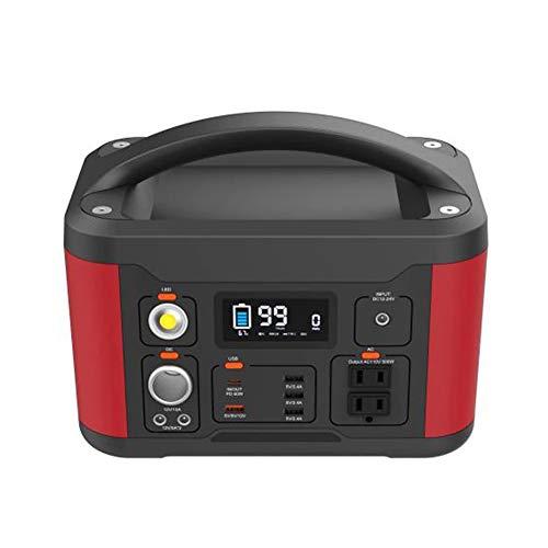 Z&LEI 540WH High Power Car Power Power Portable 500W Power Bank Solar Charging 12V / 24V Generador de energía para el hogar y al Aire Libre,Rojo