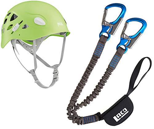 LACD Damen Klettersteigset Pro Evo + Petzl Helm Elia Green 52-58cm