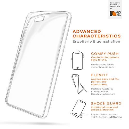 MoEx® Ultra-Clear Case [Vollständig Transparent] passend für Huawei P8 Max | rutschfest und extrem dünn - Fast unsichtbar, Klar - 3