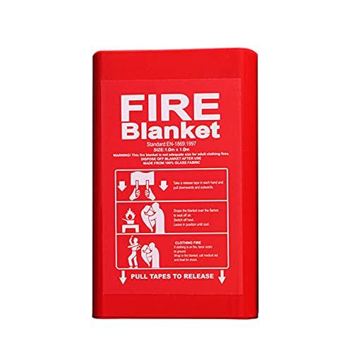 Manta de emergencia de fibra de vidrio para supervivencia, ideal para cocina, chimenea, parrilla, coche, camping