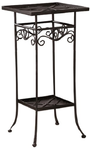 Bastelmaxi Mosaiktisch Tischrohling Tisch 2-stufig quadratisch, schwarz