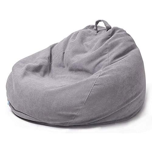 Qinmo Espuma puf - Bolsas con extraíble Lavable Cubierta, for Adultos y niños salón al Aire Libre reclinables Perezoso Puffs de Interior (Color : C, Size : 90cm)