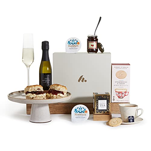 Afternoon Cream Tea Hamper - Cream Tea Gift Hampers - Tea and Scones Hamper Gifts and Baskets (Afternoon Cream Tea with Prosecco)