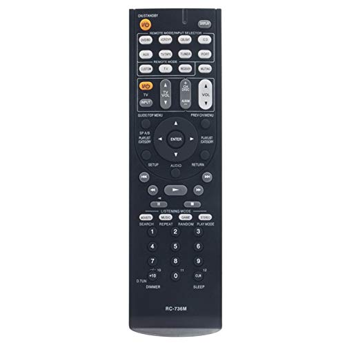RC-736M Replacement Remote Control fit for Onkyo Home Theater System HT-S5200 HT-R570 HTP-570 HTS5200B HT-S5200S SKF-570L SKF-570R SKC-570 UP-A1L SKR-570L SKB-570R SKR-570R SKB-570L SKW-570