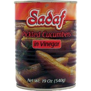 Sadaf Pickled Cucumbers in Vinegar, 19 Oz
