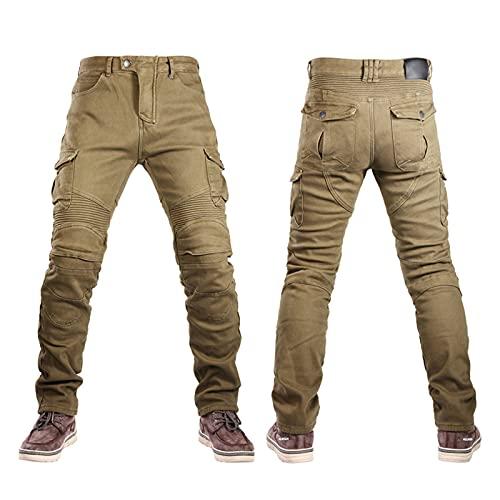 Pantalones Blindados Impermeables Para Moto Vaqueros De Mezclilla Elásticos Resistentes Al Viento Y Al Agua Forro Extraíble (2 Colores, 7 Tamaños) Pantalones De Motociclista Para Hombres Y Mujeres