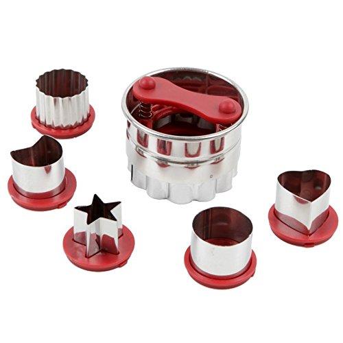 Astra shop 6-Piece Classic Linzer Cookie Cutter Set, Red
