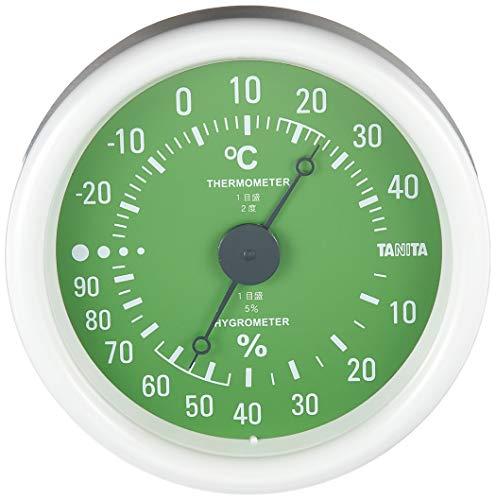 タニタ 温湿度計 温度 湿度 アナログ グリーン TT-515 GR
