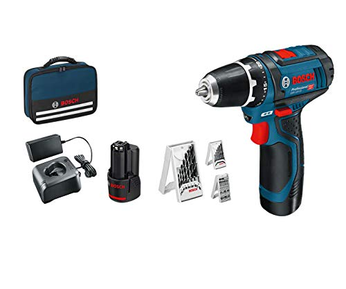 Auch gut in der Welt Bosch Professional 12V System GSR12V-15 Cordless Driver (2 2.0 Batteries + Charger, 39 Piece Accessory Set, Bag) – Amazon Edition