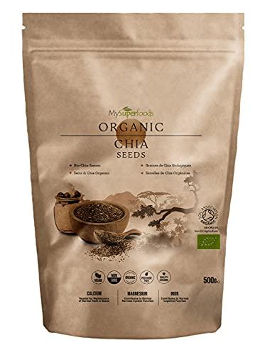 MySuperfoods Organische Chia-Samen, Natürliche Quelle für Omega-3 & Proteine (500g)
