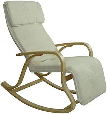 Dépôt515 Rocking-chair multipositions Alex II - Alcantara Crème
