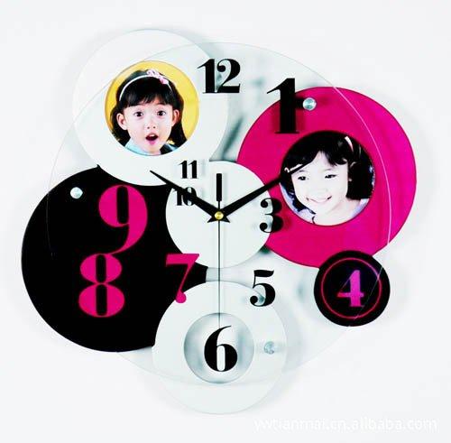 DFFV-Fashion art murale horloge Horloge photo en bois boîte de table (sans batterie) 58 * 30 (cm)Cadeau de cadeau de Noël de vacances d'ami cadeau