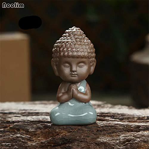 Buddha-Statue-Figürchen Dekoration Mönch Tee Tierzubehör Bonsai Garden House Dekoration Tathagata Indien Mandala Home Decor: C