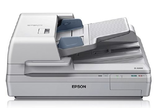 Epson DS-60000 Large-Format Document Scanner: 40ppm, TWAIN & ISIS Drivers, 3-Year Warranty with Next Business Day Replacement