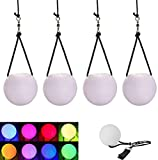 4PCS LED Poi Balls - Glow LED Thrown Juggling Balls for Professional Hip-hop, Indoor/Outdoor Activities Belly Dance Level Hand Props for Kids Gift