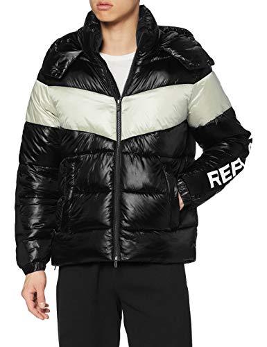 Replay Herren M8094 .000.83834 Jacke, 10 Black/Ice, L