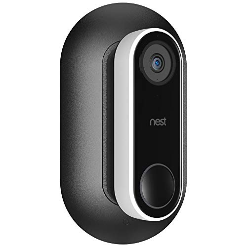 Aobelieve Wall Plate with 35-Degree Wedge for Nest Hello Video Doorbell, Black
