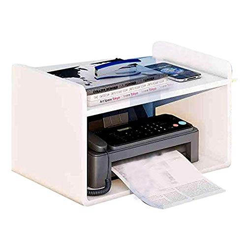 zlw-shop Printer Stand Print Rack Bookshelf File Finishing Rack Office Storage Rack Copy Rack Mobile Desk Rack Organiser for Home Desktop Stand for Printer (Color : White, Size : S)