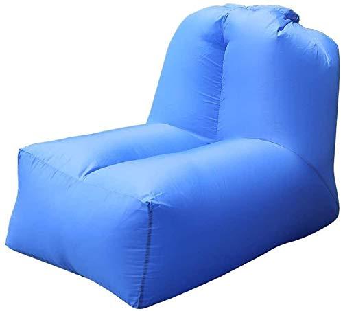 Decor Bolso de Dormir del sofá de la Silla de la Silla de la Silla Inflable portátil con el Respaldo Ajustable para el Interior del Patio de la Playa del Camping al Aire Libre para Interiores