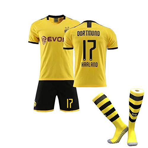 Kind /Erwachsener2019-2020 Saison Männerfussball Trikot, Dortmund Fußballtrikot- # 17 Haaland # 11 Marco Reus, Fan Trikot Erwachsener/Kind Kits Für-yellowA-XXS