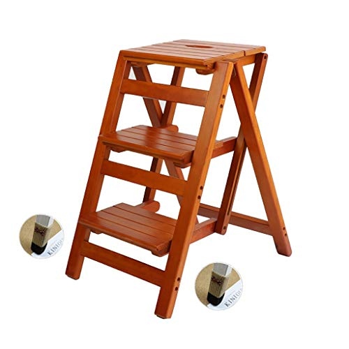 QYJpB Klappleiter Hocker Hocker, Holz, Blume Regal Startseite Holzleiter Multifunktions-Indoor Climbing Ladder Kleine Hocker Tritte (Color : #2)