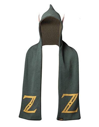 Bioworld Zelda Kapuzenschal mit Ohren, Grün, Einheitsgröße