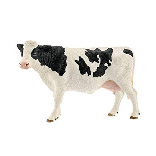 Schleich Farm World Holstein Cow Educational Figurine for Kids Ages 3-8