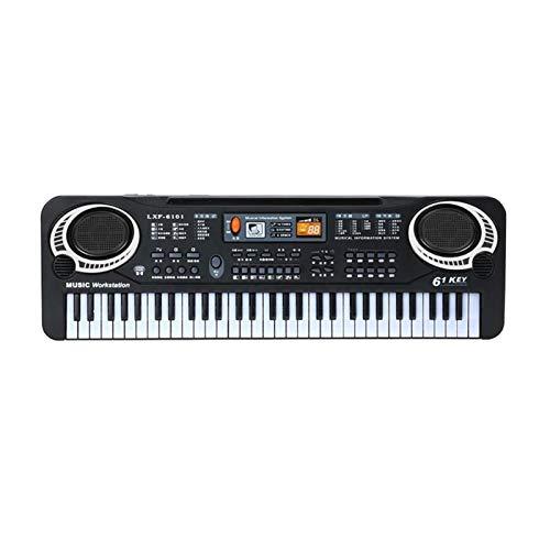 YSJJWDV Pianos Infantiles 61 Keys Negro Digital Música Electrónica Teclado Tablero Llavero...