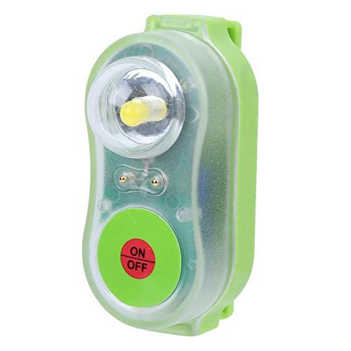 Les-Theresa Chaleco salvavidas Lámpara de luz LED Litio JHYD-I Agua de mar Autoiluminación Linterna de ahorro Atracción llamativa Luz de localización automática de supervivientes(Cian)