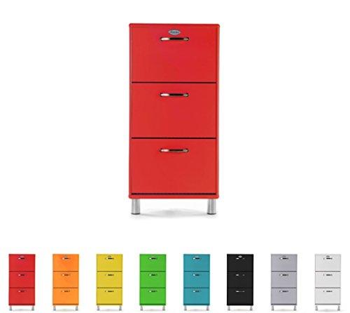 TENZO Scarpiera, Colore: Rosso, 58cm x 121cm x 24cm (B/H/T)