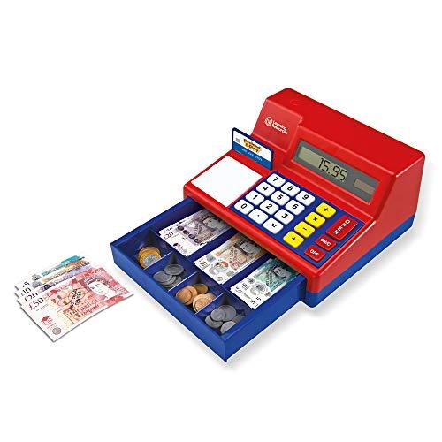 Learning Resources Caisse enregistreuse et Calculatrice en Livre Sterling Pretend & Play de