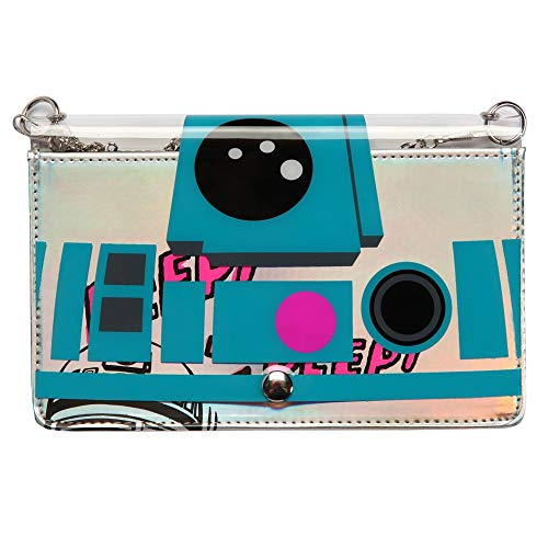 Star Wars Unisex-Adult's R2d2 Clear Envelope Clutch, multi, One size fits most