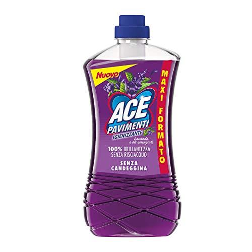 Ace Pavimenti Igienizzante Lavanda e Oli Essenziali, Senza Candeggina, Maxi Formato - 1300 ml