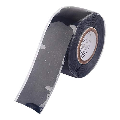 Cinta de Sellado de Caucho de Silicona Autofundente Cinta Adhesiva Resistente a Intemperie para Cables Eléctricos Tubería de Manguera Fugas Reparaciones de Emergencia 25 mm * 3 Metros/Rollo