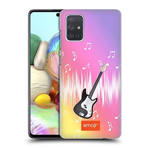 Head Case Designs Offizielle Emoji® Gitarre Musik Harte Rueckseiten Handyhülle Hülle Huelle kompatibel mit Samsung Galaxy A71 (2019)