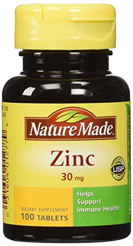 Nature Made Zinc Tabs - 30 mg - 100 ct