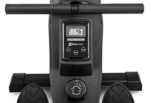 Hop-Sport Luft-Rudergerät Rush Air-Rower mit Computer, Luft Air Rower klappbar für Zuhause, 8 Luftwiderstandsstufen - 4