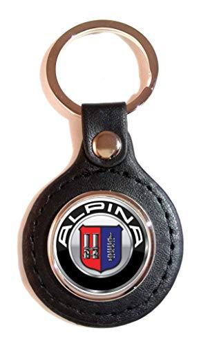 Schlüsselanhänger Kunstleder Sport Logo Alpina