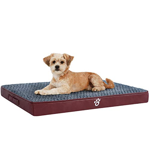 OQQ Large Dog Bed Crate Mat Dog Beds for Large Dogs Pet Beds Foam Cushion Anti-Slip with Washable Cover Bed Mats
