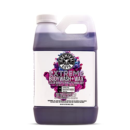 Chemical Guys CWS20764 Extreme Bodywash & Wax Foaming Car Wash Soap (Works with Foam Cannons, Foam Guns or Bucket Washes), 64 oz., Grape Scent