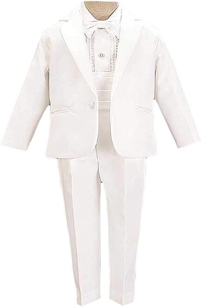 Avery Hill Boys 5-Piece Tuxedo Single Breasted Satin Notch Lapel - Many Colors
