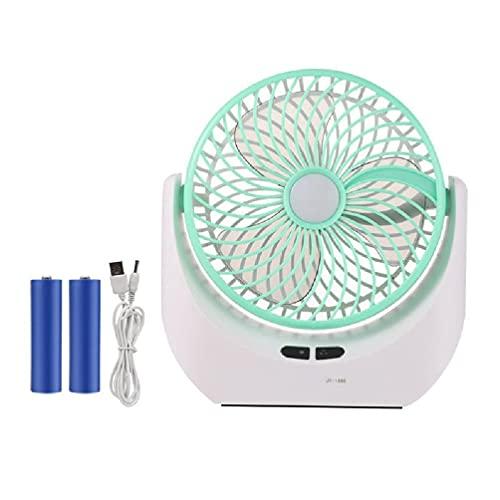 Ventilador Para Acampar, Ventilador Con Luces LED, Ventilador De Escritorio Recargable Por USB, Banco De Energía De 4000 MAh, Luz De Ventilador De Tienda- De Diseño De 3 Velocidades Para El Hogar