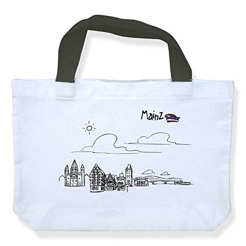 Einkaufstasche Skyline Mainz - als Geschenk für Meenzer & Fans der Domstadt oder als Mainz Souvenir - die stadtmeister